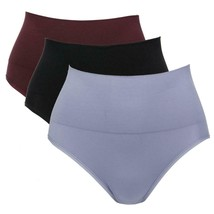 Yummie Seamless Shaping Brief 3-pack in Silver Bullet/Fig/Black, 2X/3X (... - $38.60