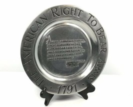 RWP Wilton Armetale Plate -The American Right To Bear Arms  Second Amend... - $179.55