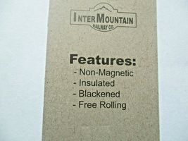 """Intermountain # 60050 33"""" Brass Insulated Wheelsets, Axle length .055"""" N-Scale  image 3"""