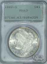 "1882-S Morgan Dollar PCGS MS-63 ""Rattler""; Premium Quality! - $89.09"