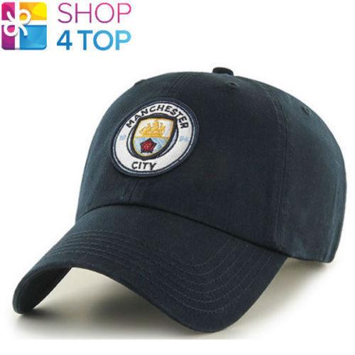 MANCHESTER CITY FC BASEBALL CAP HAT NAVY FOOTBALL CLUB SOCCER TEAM LICENSED NEW