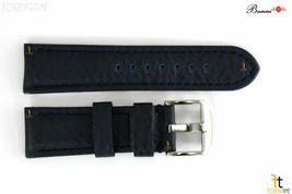 Bandenba 22mm Genuine Blue Textured Leather Panerai Stitched Watch Band Strap - $53.95