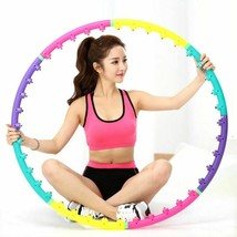Magnetic Massage Hula Hoop Fitness Exercise Detachable Sport Double Row ... - $32.99
