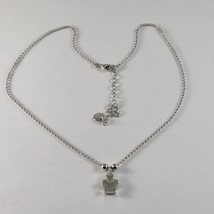 Silver Necklace 925 Jack&co with Angel with Zircon Cubic White JCN0610 image 1