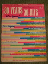Original Vintage 1966 No 1 30 YEARS 30 HITS Song Book Piano Arrangements... - $11.57