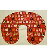 Boppy Baby Nursing Pillow Cover Slipcover Fall Fruits Red Pink Green Apple Pear - $14.83