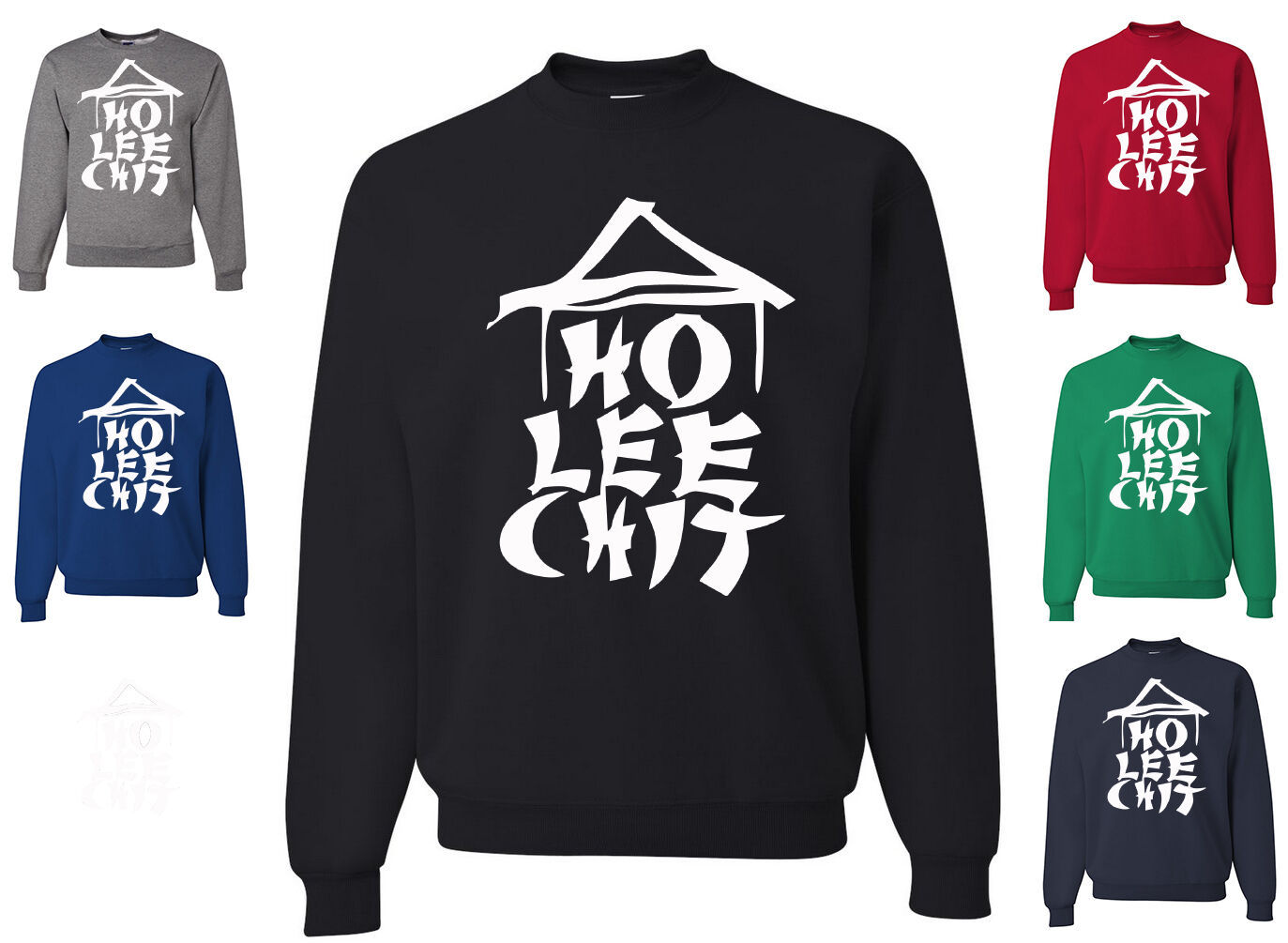 Ho Lee Chit Funny Sweatshirt Holy Sh*t Asian Chinese Character Parody Humor