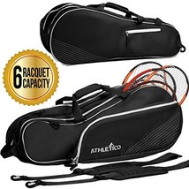 Athletico 6 Racquet Tennis Bag | Padded to Protect Rackets & Lightweight... - $36.85