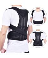 Back Posture Corrector Shoulder Lumbar Brace Spine Support Belt Adjustab... - $50.70+
