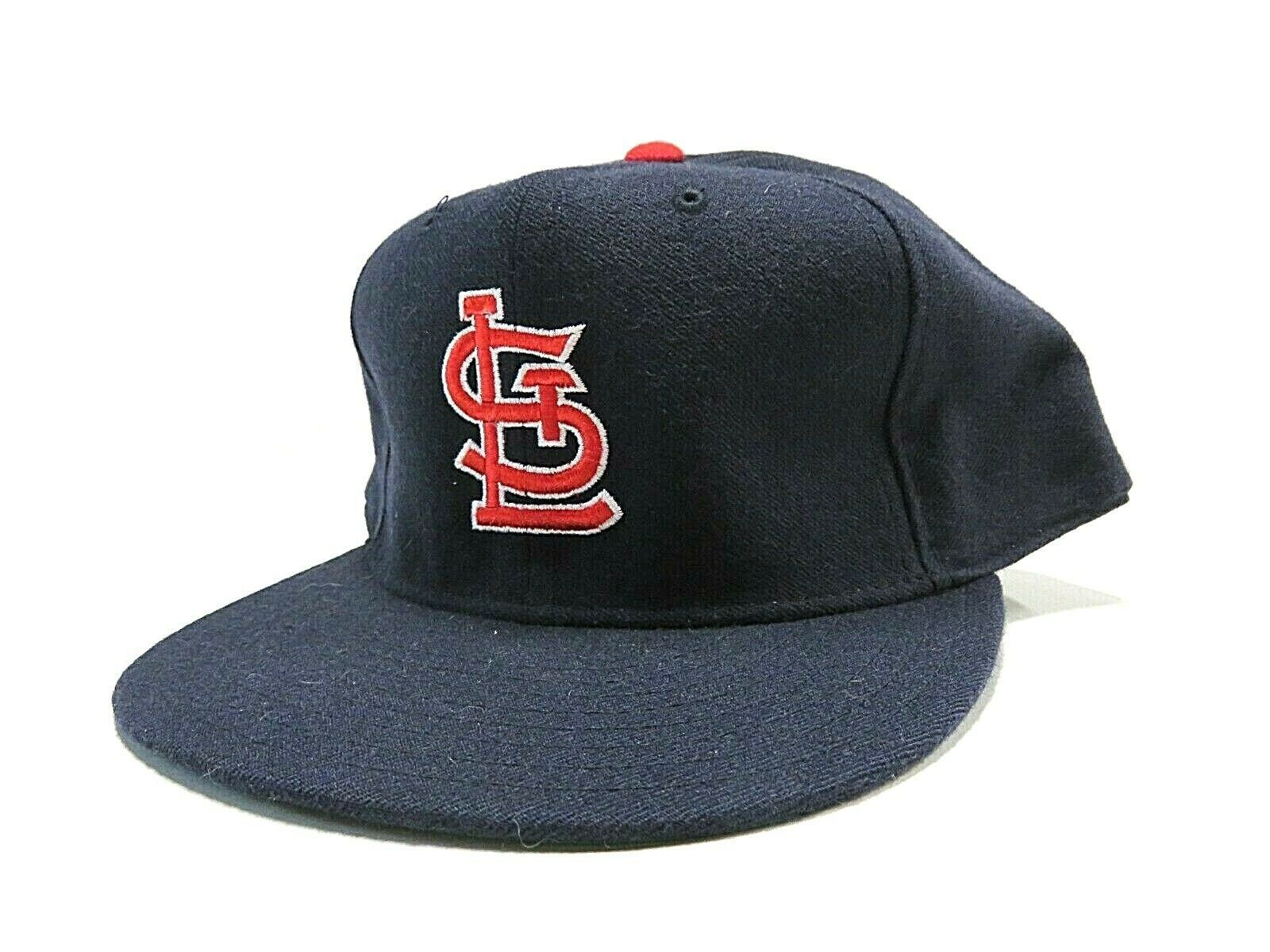 VTG New Era St. Louis Cardinals MLB Baseball Fitted Hat Size 7 3/4 Made in USA