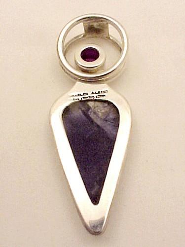 Sterling Silver Alexandrite & Purple Tiffany Stone Pendant Charles Albert