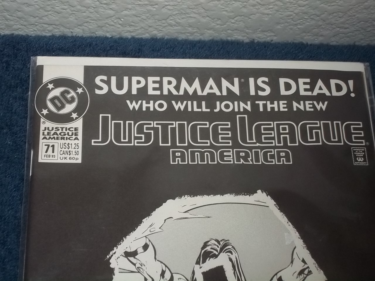 JUSTICE LEAGUE OF AMERICA SUPERMAN IS DEAD COMIC BOOK - FEB 93 DC