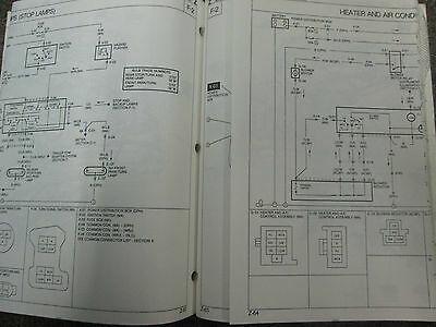 1993 Mazda Navajo Elektrisch Wiring Manuell Fabrik OEM Buch 93