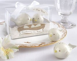"""Feathering the Nest"" Ceramic Birds Salt & Pepper Shakers Set of 12 - $51.63"