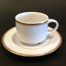 Fitz & Floyd Palais White (Switzerland) Restaurant Coffee Cup And Saucer - $22.99