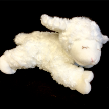 "Baby Gund White WINKY Sheep Lamb Rattle Plush 8""  Stuffed Animal - $9.99"
