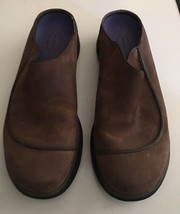 Mens MERRELL Brown Topo Wave Slide Suede Slip on Mocs Clogs Shoes sz 11 M image 2