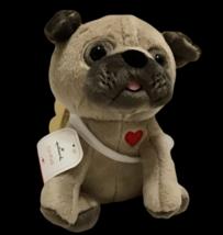"Hallmark Cupid Pug CU-PUG 8"" Plush Pug Dog Puppy Love Stuffed Valentine New  - $29.69"