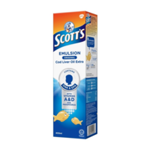 4 X 400ml Scott's Emulsion Cod Liver Oil Original flavor For Children an... - $64.89