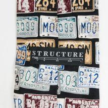 Structure License Plates Silk Necktie Tie image 5