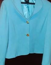 Women's Lined Blazer by RQT Aqua 16P - $18.39