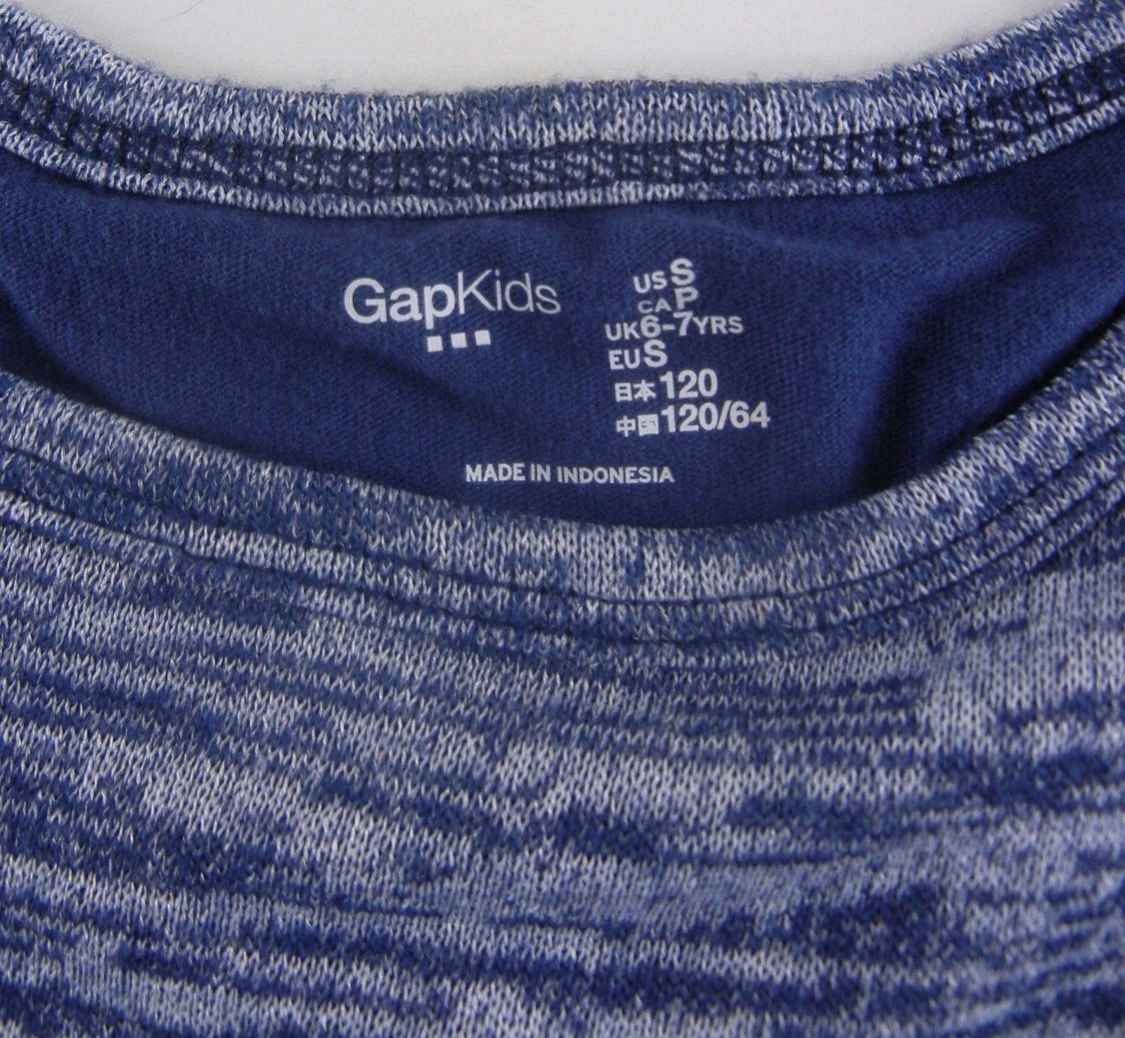 68b8ee4617c2a5 ... GAP KIDS Girl's Nurian Envelope Dutch Blue Knit Shirt Top S 6 7 yrs  Split ...
