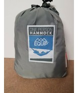 Equip ONE PERSON GRAY Travel 1.2 lb. Hammock 400 lb. Weight Capacity NEW - $27.99