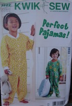 Sewing Pattern 3922 Toddler Pajamas size 1T-4T - $5.99