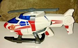 2002 Matchbox Rescue Net Super-Blast Helicopter Plastic Toy Shots Soft B... - $34.64
