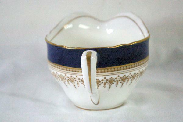 Royal Worcester Regency Blue Creamer #21686 image 4