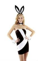 Bianco e Nero Sexy Bunny Costume Kit Orecchie Farfallino Polsini Coniglio - €18,11 EUR