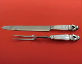 Acorn by Georg Jensen Sterling Silver Steak Carving Set 2pc HH WS Antique - $309.00