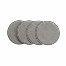 Set of 4 Bodrum Pronto Gray Round Vinyl Coasters - $23.00