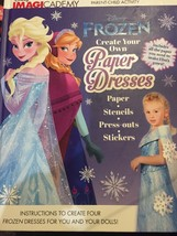 New Frozen Disney Imagicademy Create Your Own Paper Dresses Book - $9.99