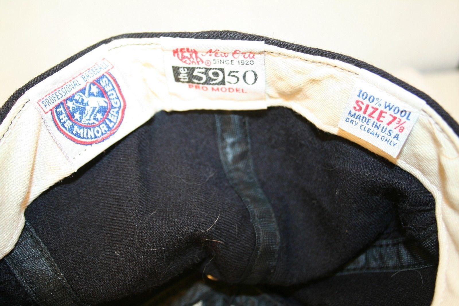 Everett WA Aquasox MiLB New Era 5950 Soggy Froggy logo Black 7 3/8 Cap Hat USA