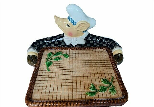 Department 56 Jam Bon Trivet pig hog piglet tray hot plate serving kitchen decor - $91.92