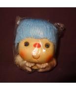 "Doll Head Hands Blue Hair 4""   Old Stock - $8.00"
