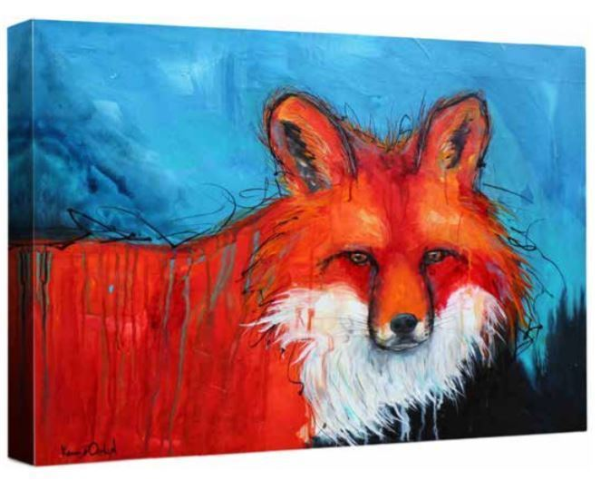 Primary image for Red Animals Wildlife Fox Stretched Canvas Giclee 32x40