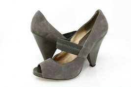 Michael Kors Womens 7 M Mary Janes High Heel Shoes Gray Leather Slip On ... - $22.99