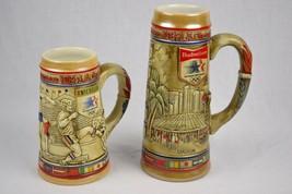 (2) Anheuser Busch 1984 L.A. Olympics Beer Steins, Ceramarte - $60.17
