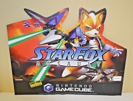 Nintendo Gamecube Star Fox Assault Rare Promo Vinyl GAMESTOP 20X25 Sticker - $98.99
