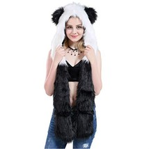 Panda Animal Hood, Mittens, Gloves,Scarf, Furry Hoodie - $21.92