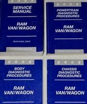 2002 DODGE RAM VAN WAGON Service Repair Shop Workshop Manual SET FACTORY... - $74.21