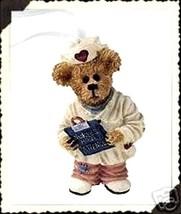 "Boyds Bearstone Nurse Ornament ""Naomi Chart Keeper"" #25741 -New- 2001- Retired - $19.99"