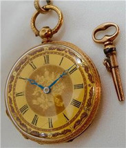 MUSEUM Audemars Freres 18k Gold&Enamel watch for French Court of Louis P... - $5,900.00