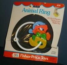 Vintage Fisher Price Baby Rattle 1976 Teething Ring Animal # 430 New Sealed - $46.71
