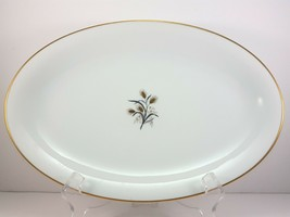 "Noritake Wheatcroft 5852 Oval Serving Platter 12"" White and Gold - $15.84"
