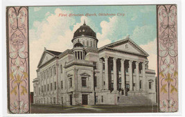 First Christian Church Oklahoma City OK 1910c postcard - $5.94