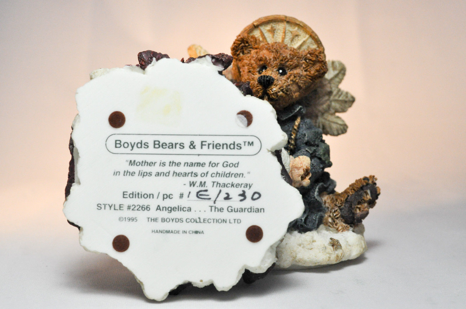 Boyds Bears: Angelica The Guardian - Style 2266 - First Edition 1E/230 - Trinket image 3