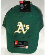 NWT Under Armour 1316998 UA Pro Heat Gear OSFA Oakland A's Truckers Hat ... - $19.78